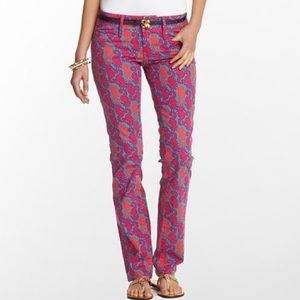 NWT Lilly Pulitzer 'Hold Your Horses' Worth Jean